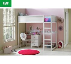 Get set for high sleeper at Argos. Same Day delivery 7 days a week or fast store collection. High Sleeper, Childrens Beds, White Bedding, Bedroom Furniture, Mattress, Home And Garden, Stuff To Buy, Shopping, Collection