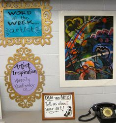 Cassie Stephens: In the Art Room: Those First Days of Art Class, 2 - So many fun ideas for how to run an art class - LOVE! Art Classroom Decor, Art Classroom Management, Classroom Ideas, Classroom Organization, Classroom Board, Classroom Resources, Elementary Art Rooms, Art Lessons Elementary, Middle School Art