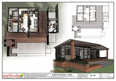Earthcube » Plan Gallery Building A Container Home, Container House Plans, Container House Design, Container Houses, Shipping Container Home Designs, Casas Containers, Portable House, Cottage Design, Prefab Homes