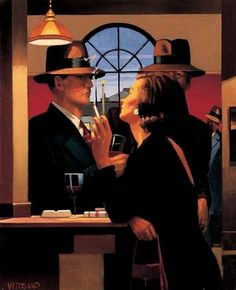 The Twilght Zone - Jack Vettriano  The Twilight Zone original painting was featured at the 1995 exhibition A Date With Fate. You can find this image and many more paintings by Jack Vettriano in his book Lovers & Other Strangers