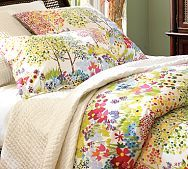 I love this duvet for our benjamin moore lemon meringue wall colored bed room.  That would be such a fun bright room.