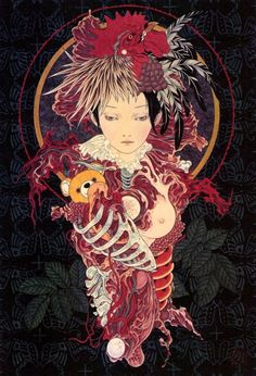 Kai Fine Art is an art website, shows painting and illustration works all over the world. Art And Illustration, Illustrations And Posters, Ero Guro, Arte Horror, Horror Art, Yamamoto, Death Art, Art Chinois, Macabre Art