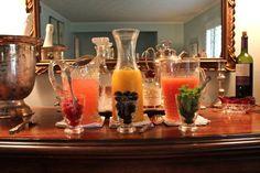 brunch idea: mimosa bar