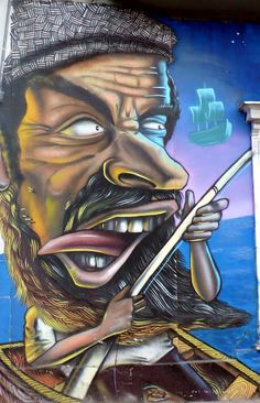 graffiti street art in barrio brasil and yungay, santiago de chile