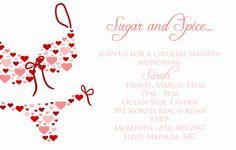 Heart Lingerie Shower Invite