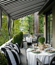 Outdoor Black & White Decor
