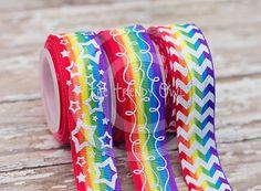 Rainbow Ombre <3 Shop our Designer Ribbon now @ www.thetrendyowl.com