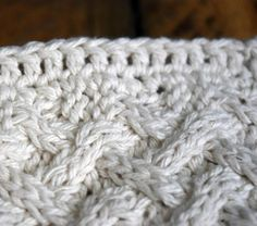 Knit Cotton Washcloth with Crochet Edge Maybe this would be good on a larger scale- as an afghan  too.