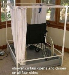 Portable Handicapped Shower Tall Model Buy Online #wheelchair ...