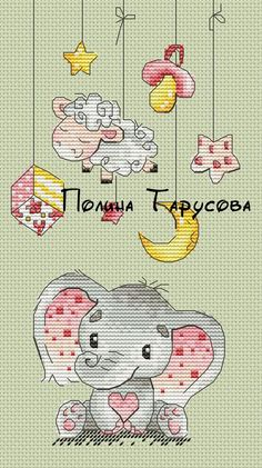 Baby Cross Stitch Patterns, Cross Stitch For Kids, Cute Cross Stitch, Cross Stitch Designs, Elephant Cross Stitch, Cross Stitch Animals, Cross Stitching, Cross Stitch Embroidery, Embroidery Patterns
