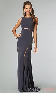 Long Sleeveless Open Back JVN by Jovani Dress at PromGirl.com
