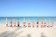 Sivananda Ashram Yoga Retreat: TTC Grad's-Beach Sirshasan
