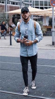 Men street styles 441282463486513660 – Perfect casual go-to outfit. Men street styles 441282463486513660 – Perfect casual go-to outfit. Casual Styles, Men Casual, Casual Wear, Casual Chic, Mode Outfits, Fashion Outfits, Fashion Styles, Urban Style Outfits, Fashion Ideas