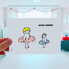 good friends  #goodfriends #friends #illust #doodle #kr