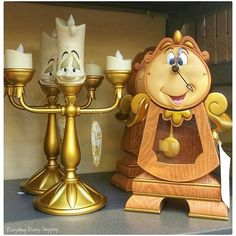 Now Lumiere won't be lonely anymore! Not only is Cogsworth a figure, he's a working clock! Look for him in the Disney Parks or get him at… Beauty And Beast Birthday, Beauty And The Beast Theme, Beauty And Beast Wedding, Beauty And The Best, Disney Beauty And The Beast, Cute Disney, Baby Disney, Disney Art, Disney Theme