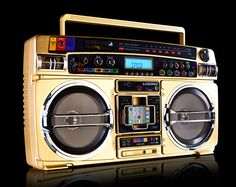 Lasonic's 931 TRC was one of the most popular boombox models in the late 80s. With the death of the cassette tape the company released an update on the 931 TRC called the I931X Classic, which played audio files and had an iPod dock in place of a tape deck. The I931X Limited has the exact same features as the Classic, except it has a shiny gold finish...