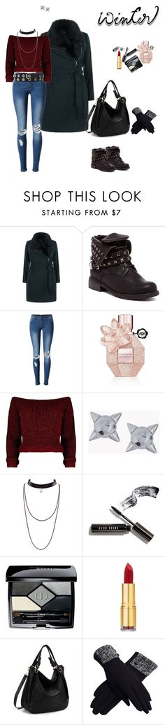 """Winter"" by clauxsanchex on Polyvore featuring moda, New Look, WithChic, Viktor & Rolf, Dsquared2, Bobbi Brown Cosmetics, Christian Dior, Isaac Mizrahi y Witchery"