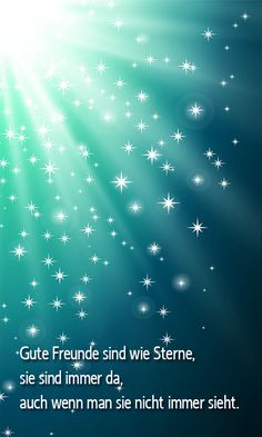 Handy Hintergrundbild - Gute Freunde sind wie Sterne, sie sind immer da, auch wenn man sie nicht immer sieht