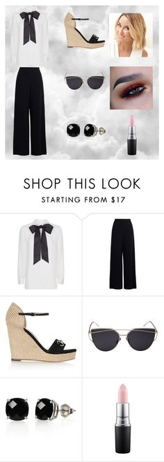 """""""Bow Blouses"""" by velvetgirl10 on Polyvore featuring Valentino, Zimmermann, Gucci, Belk & Co. and MAC Cosmetics"""