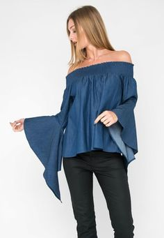 Shop the Fashion Edit Final sale for a limited time only Bell Sleeves, Bell Sleeve Top, Final Sale, Finals, Off Shoulder Blouse, Waterfall, Denim, Casual, How To Wear