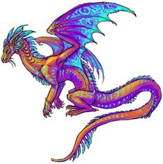 SeaWing-RainWing hybrid I LOVE THIS! SeaWings and RainWings are my favourite dragons from the books!<<< Little rain wing babies