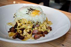 Carbonara, Pancetta, Egg Yolk, Romano Ricotta Cibo Matto 201 N. State St., at E. Lake St.; 312-239-9500; $12 for half, $24 for full