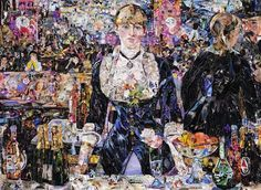 Vik Muniz recreates the masterpieces of classical painting with collages made from thousands of small pieces of paper, torn from magazines, newspapers or even comics.
