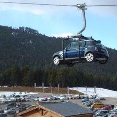 MINI Cooper Ski Lift