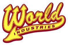 Logos World Industries World Industries Skateboards, Skateboard Logo, Skateboarding, Streetwear, Art Ideas, Industrial, Graphics, Stickers, Classic