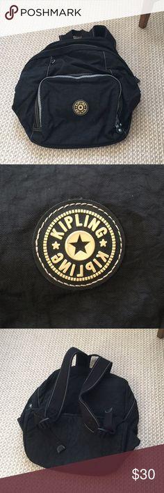 Black Kipling Backpack Amazing condition! No monkey. No trades! Make an offer! Kipling Bags Backpacks
