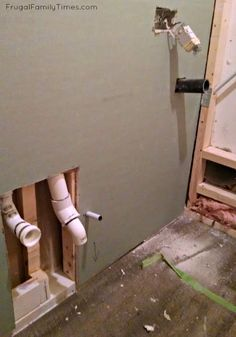 New Basement Bathroom: No Major Construction! How to Install a Powder Room with … New Basement Bathroom: No Major Construction! How to Install a Powder Room with Saniflo Small Basement Bathroom, Bathroom Plumbing, Bathroom Layout, Bathroom Interior, Bathroom Ideas, Downstairs Bathroom, Basement Toilet, Master Bathroom, Basement Gym