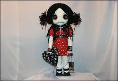 Jelly Bracelets, Button Eyes, Black Thread, Creepy Art, Black Leather Shoes, Doll Patterns, Hand Stitching, Art Dolls, Folk Art