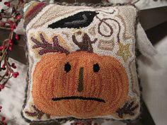 Fall Crow & Jack O'Lantern Pumpkin pillow