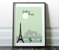 Minimalist Paris cityscape print - Jadore Paris. Many more city prints are available in my store.  Most of my prints are now available for you to print at home in my other shop here: www.etsy.com/uk/shop/NordicDesignHouseCo   MY PRINTS  All of my prints are designed inhouse so if you require a different colour or alteration please just send me a convo and I will be more than happy to make any small change free of charge. Larger, more time consuming changes will require an additional charge…