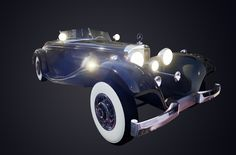 Mercedes-Benz 540 K Special Roadster Polycount: 133 000 tris Texture size: 4 x 2048p Modeled in Autodesk Maya Textured in Photoshop using Quixel SUITE Rendered in UE4