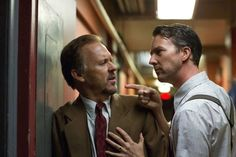"Michael Keaton, left, and Edward Norton in ""Birdman,"""