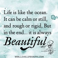 Life is like the ocean. It can be calm or still, and rough or rigid, But in the end, it is always beautiful. by deeplifequotes, via Flickr
