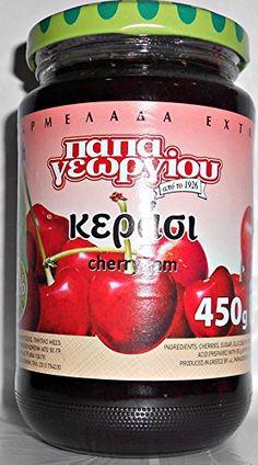Traditional Greek Cherry Jam Marmalade 450g 15.87oz, ,
