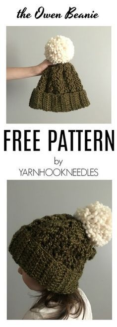 c58f686d9a5 30 Days of Beanies! Try this Easy Crochet Cable Beanie! Get the FREE  Pattern   Video Tutorial at