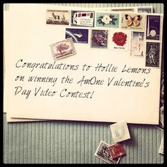 Congratulations to Hollie Lemons on winning the AmOne Valentine's Day Video Contest!    #contest #valentines