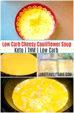 Low Carb Cheesy Cauliflower Soup is one of the healthy freezer meals I made on my last freezer cooking day. Use the immersion blender to make a creamy soup! Slow Cooker Freezer Meals, Healthy Freezer Meals, Slow Cooker Soup, Freezer Cooking, Slow Cooker Recipes, Crockpot Meals, Best Meals To Freeze, Low Carb Soup Recipes, Meal Recipes
