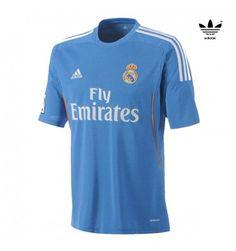 Real Madrid Adidas genuine blue mens away short sleeve football shirt 27daced85ad3b