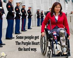"""Democratic Senator Tammy Duckworth didn't mince words when she responded to drumpf's interview with Piers Morgan in which he explained that he faked bone spurs to get out of the Vietnam War because he """"wasn't a fan"""" and """"it was very far away. Sound Off, Democratic Senators, State Of The Union, Girls Rules, The Hard Way, Vietnam War, Powerful Women, Shit Happens, Yellow"""