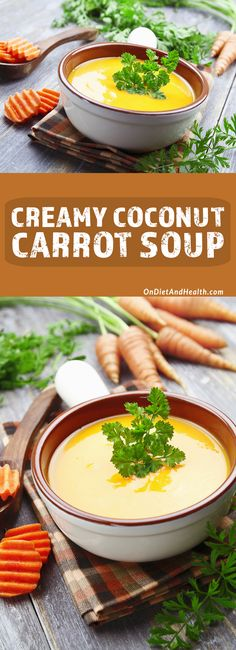 This creamy coconut carrot soup is dairy-free and Paleo and so delicious! // OnDietAndHealth.com // #paleo #glutenfree #dairyfree