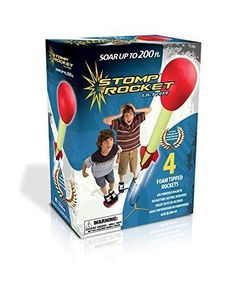 Stomp on the launch pad to send a foam tipped rocket up to 200ft in the air Stomp Rocket Ultra with 4 Rockets... real foam-tipped rocketry, ready to fly in seconds, up to 200 feet high! Uses no batter
