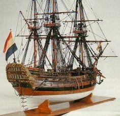 Netherlands VOC Model van de Gerechtigheid 1742, model uit 1761.  Museum: Het Scheepvaartmuseum