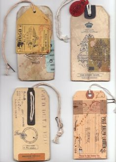 I cannot deny it, I'm a fan of the swing tag. The more distressed the bette. I don't know what they tap into - perhaps old steamer trunk travel labels? Shane Cranford swing tickets