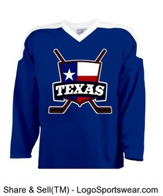 4f5bc9cd1 Texas Ice Hockey Jersey with Flag - Customize your own hockey   lacrosse jerseys  Custom Shirts   Apparel