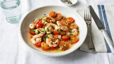 Jumbo prawns with tomatoes and garlic recipe - BBC Food