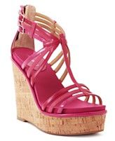 Nine West Shoes, Romancing Wedge Sandals. Gotta have these in Flamingo pink - Macys
